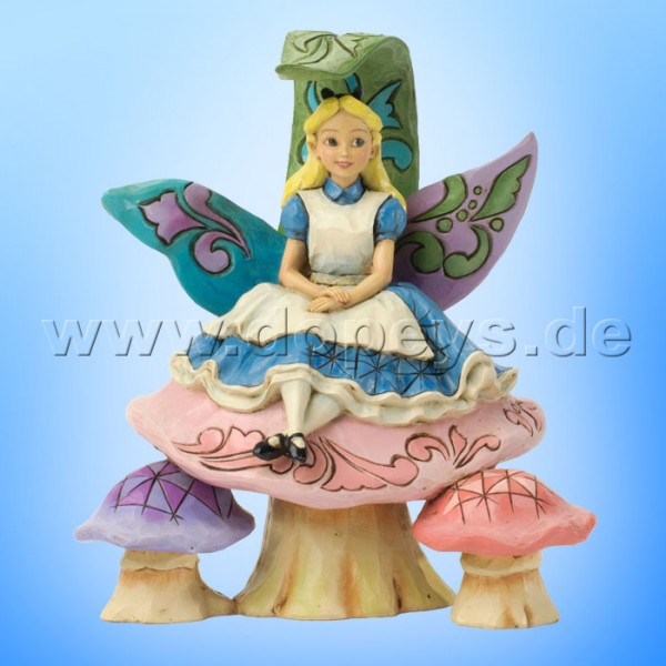 """Disney Traditions / Jim Shore Figur von Enesco """"Changed So Much Since This Morning (Alice auf Pilz)"""" 4037506."""