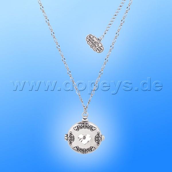 Disney Halskette - Taschenuhr Medaillon (Alice im Wunderland) in Weißgold von Couture Kingdom 12100331