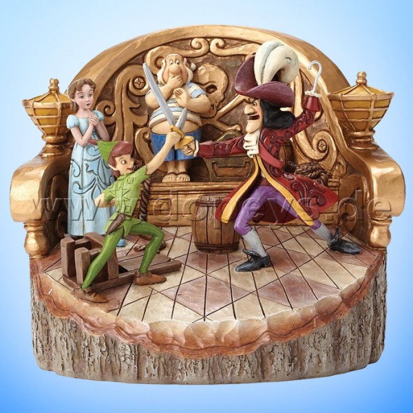 "Disney Traditions / Jim Shore Figur von Enesco.""Daring Duel (Peter Pan Baumstamm)"" 4048653."