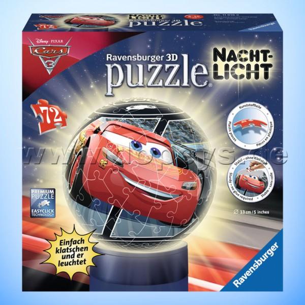 """Disney 3D Puzzle-Ball """"Nachtlicht Cars 3"""" von Ravensburger 11816"""