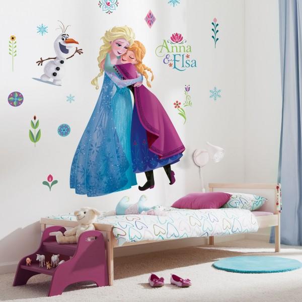 """Disney Vlies Fototapete selbstklebend Die Eiskönigin """"Frozen Nordic Summer XXL"""" 127cm x 200cm"""