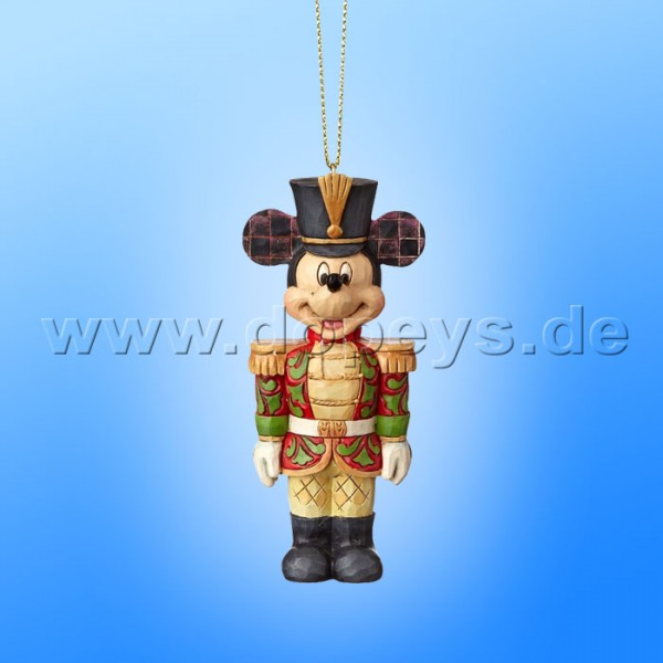 "Disney Traditions / Jim Shore Figur von Enesco. ""Mickey Maus Nussknacker Ornament Baumanhänger"" A29381"