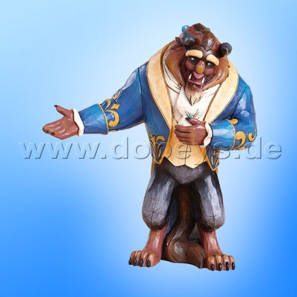"Disney Traditions / Jim Shore Figur von Enesco. ""A Beast Beneath A Spell; A Prince Tranformed By Love (Biest / Prinz Figur)"" 4013251."