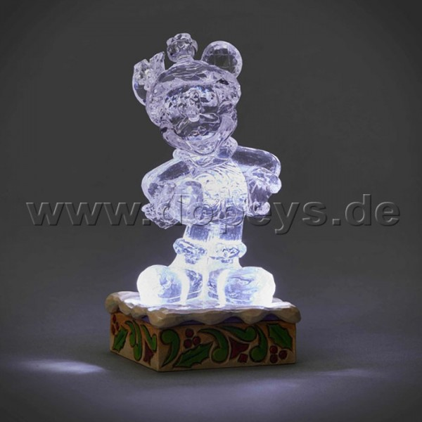 "Disney Traditions / Jim Shore Figur von Enesco ""Mickey Illuminated (Mickey Maus Eis-Skulptur)"" 4059924"
