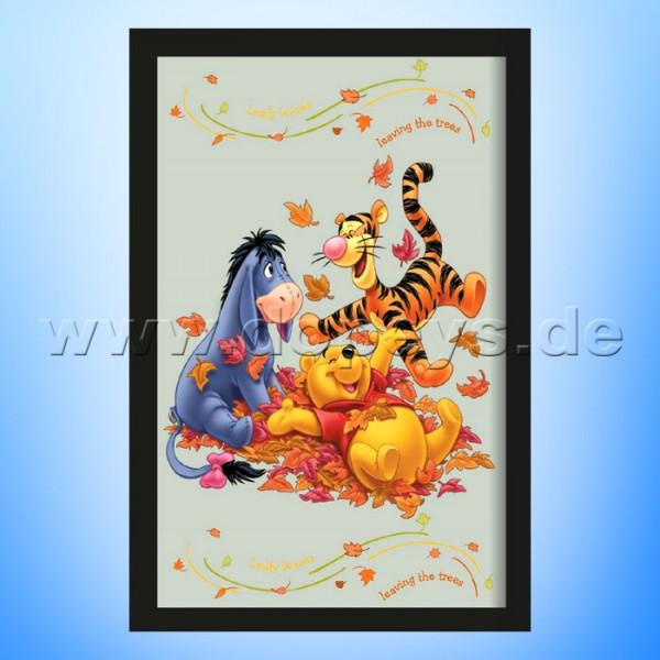 "Disney Wandspiegel / Motivspiegel - Winnie Puuh ""Puuh, Tigger & I-Aah im Herbstlaub"" 20 x 30cm HN18435"