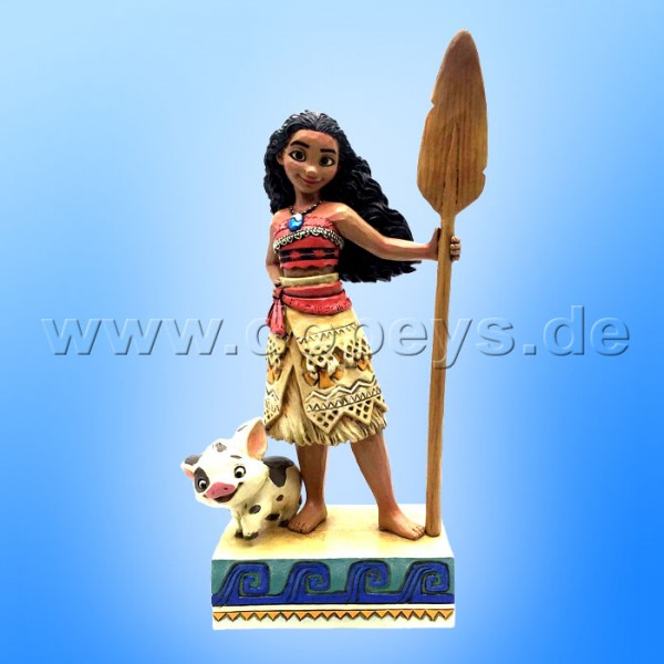 "Disney Traditions / Jim Shore Figur von Enesco ""Find Your Own Way (Vaiana mit Pua)"" 4056754."