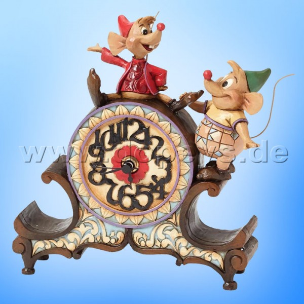 "Disney Traditions / Jim Shore Figur von Enesco ""A Stitch in Time (Jaques & Karli Uhr)"" 4039084."