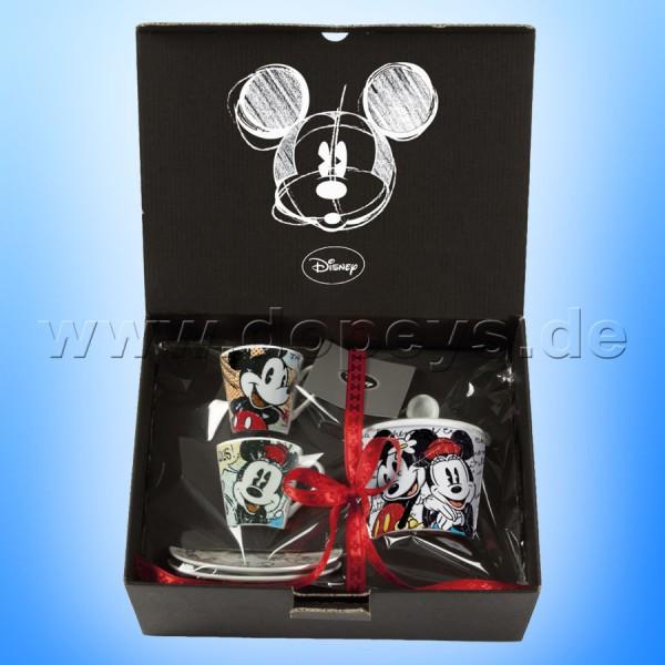 Disney Geschenkset 2 Espressotassen + Zuckerdose Mickey & Minnie Maus Classic EGAN WMSET/10