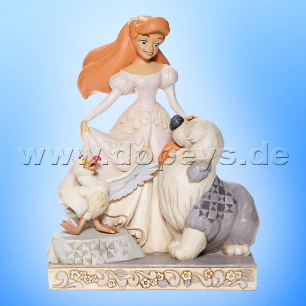 Disney Traditions - Spirited Siren (Arielle mit Max & Scuttle White Woodland) von Jim Shore 6008066