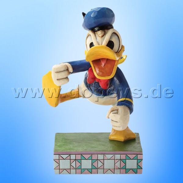 "Disney Traditions / Jim Shore Figur von Enesco ""Fowl Temper (Donald Duck)"" 4032856."