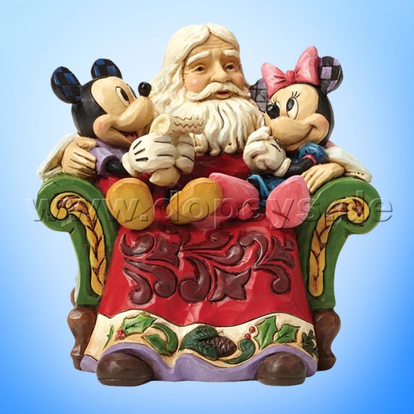 "Disney Traditions / Jim Shore Figur von Enesco.""Christmas Wishes (Weihnachtsmann mit Mickey & Minnie Maus)"" 4046017."