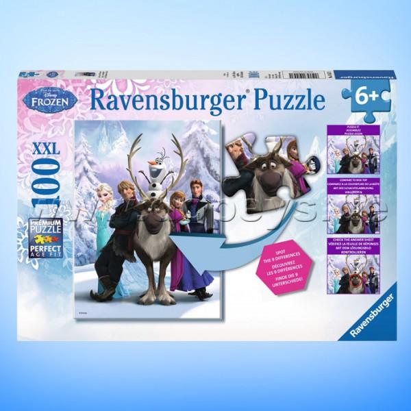 """Disney Puzzle Die Eiskönigin """"Eisige Unterschiede"""" von Ravensburger 10557"""