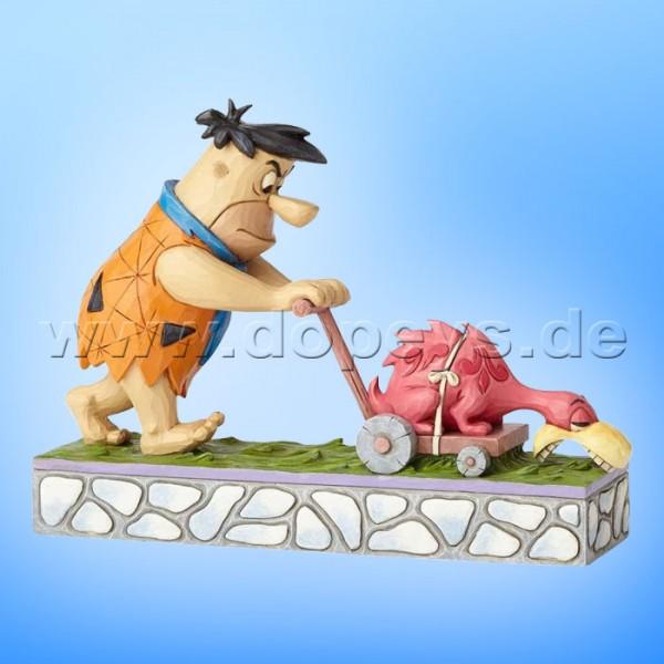 """The Flintstones / Jim Shore Figur von Enesco.""""Mower-a-Saurus (Fred Feuerstein mäht Rasen)"""" 4058334"""