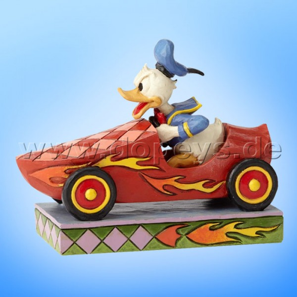 """Disney Traditions / Jim Shore Figur von Enesco """"Road Rage (Donald beim Seifenkistenrennen)"""" 6000975"""