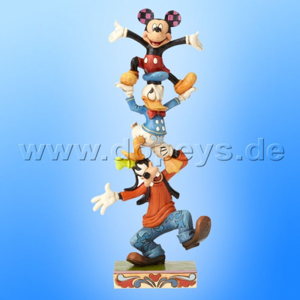 "Disney Traditions / Jim Shore Figur von Enesco ""Teetering Tower (Goofy, Donald & Mickey)"" 4055412."
