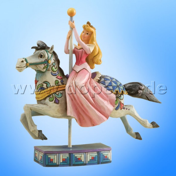 "Disney Traditions / Jim Shore Figur von Enesco. ""Princess Of Beauty (Aurora reitet auf Karussell-Pferd)"" 4011743."