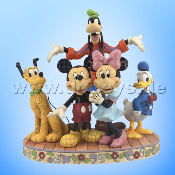 "Disney Traditions / Jim Shore Figur von Enesco ""The Gang's All Here (Die fabelhaften 5 - Mickey, Minnie, Pluto, Donald & Goofy)"" 4056752."