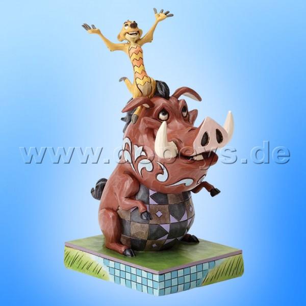 "Disney Traditions / Jim Shore Figur von Enesco ""Carefree Cohorts (Timon & Pumba)"" 4054281."