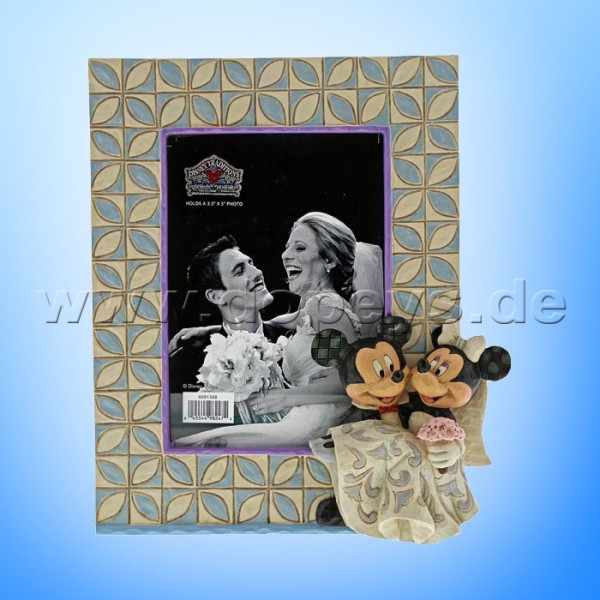 Mickey & Minnie Maus Hochzeits-Bilderrahmen von Disney Traditions / Jim Shore - Enesco 6001368
