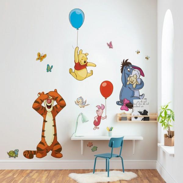 "Disney Vlies Fototapete selbstklebend Winnie Puuh ""Winnie and Friends XXL"" 127cm x 200cm"