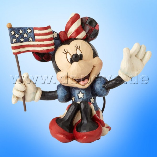 "Disney Traditions / Jim Shore Figur von Enesco ""Mini Patriotic Minnie"" 4056744."