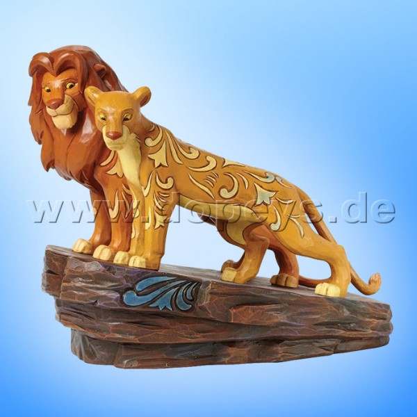"Disney Traditions / Jim Shore Figur von Enesco. ""Love at Pride Rock (Simba & Nala)"" 4040432."