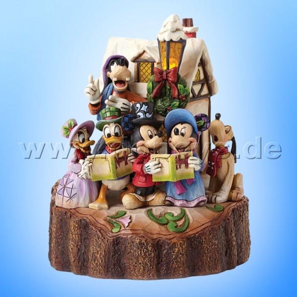 "Disney Traditions / Jim Shore Figur von Enesco.""Holiday Harmony (Mickey Maus & Freunde als Weihnachtssänger)"" 4046025."
