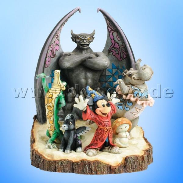 "Disney Traditions / Jim Shore Figur von Enesco ""Fantasia Symphony (Zauberer Mickey Baumstamm)"" 4031486."