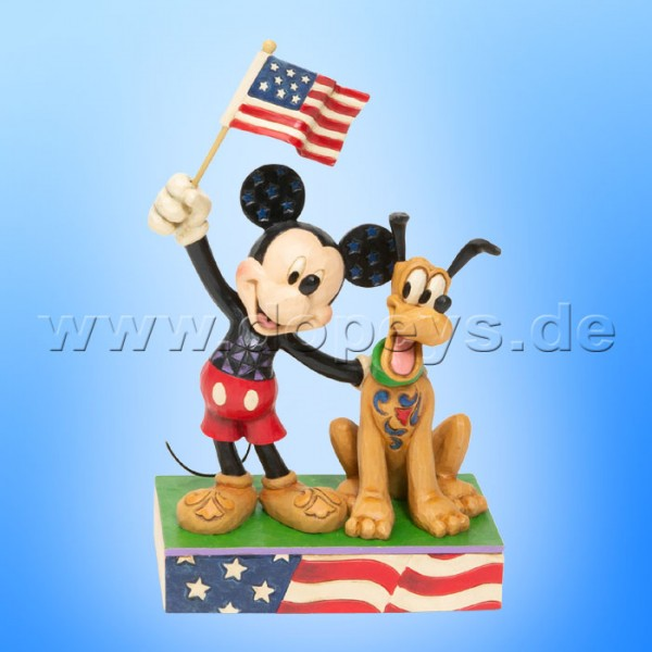 A Banner Day (Mickey & Pluto als Patrioten) Figur von Disney Traditions / Jim Shore - Enesco 6005975