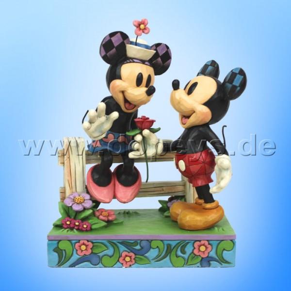 """Disney Traditions / Jim Shore Figur von Enesco """"Blossoming Romance (Mickey und Minnie am Gartenzaun)"""" 6000969"""