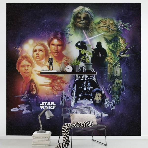 "Star Wars Vlies Fototapete ""Star Wars Classic Poster Collage"""