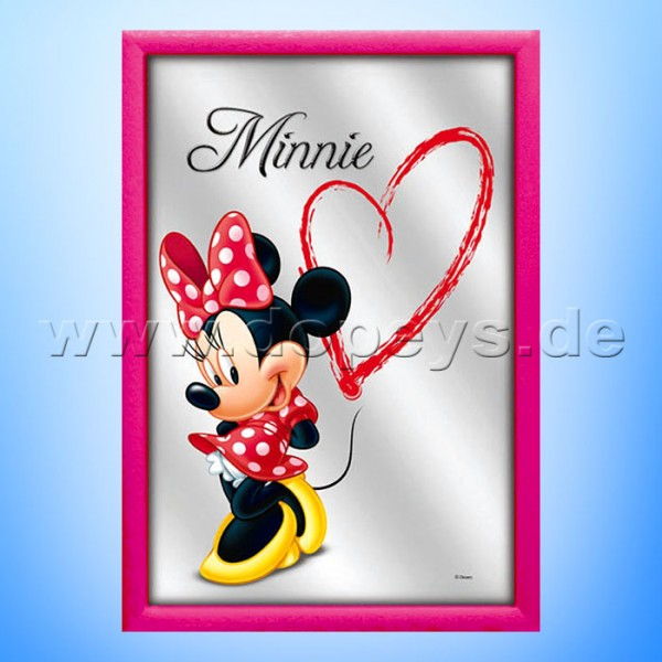 "Disney Wandspiegel / Motivspiegel - Minnie Maus ""Lovely Sweetheart"" 20 x 30cm HN18330"