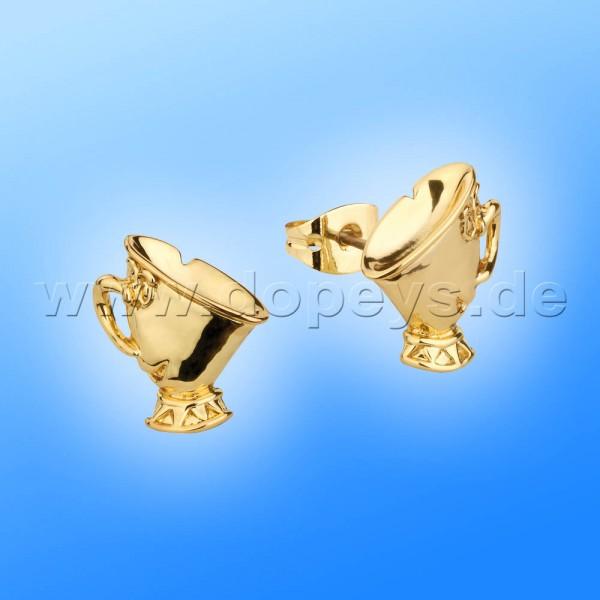 Disney Ohrstecker - Tassilo (Die Schöne und das Biest) in Gold von Couture Kingdom 12100471