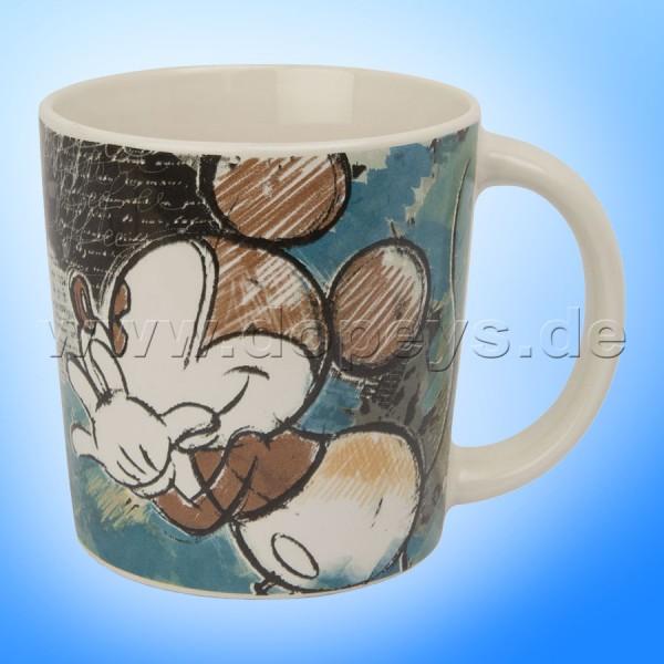 """Disney Tasse / Kaffeetasse Elfenbein-Mickey """"Türkis"""" - Mickey & Minnie Color Fun, im italienischen Design PWM21CF-1T, 39cl"""