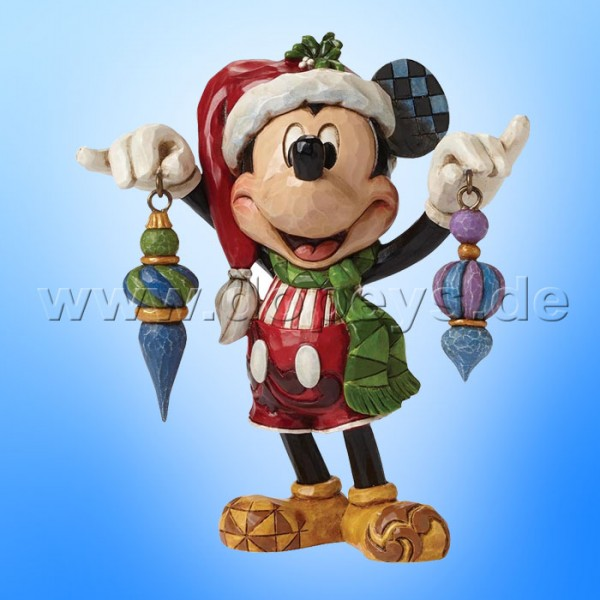 "Disney Traditions / Jim Shore Figur von Enesco.""Deck The Halls (Mickey Maus)"" 4046064."