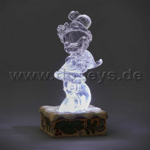 "Disney Traditions / Jim Shore Figur von Enesco ""Minnie Illuminated (Minnie Maus Eis-Skulptur)"" 4059925"