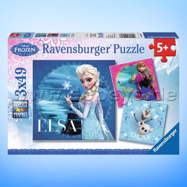 """Disney Puzzles Die Eiskönigin """"Elsa, Anna & Olaf"""" von Ravensburger 09269"""