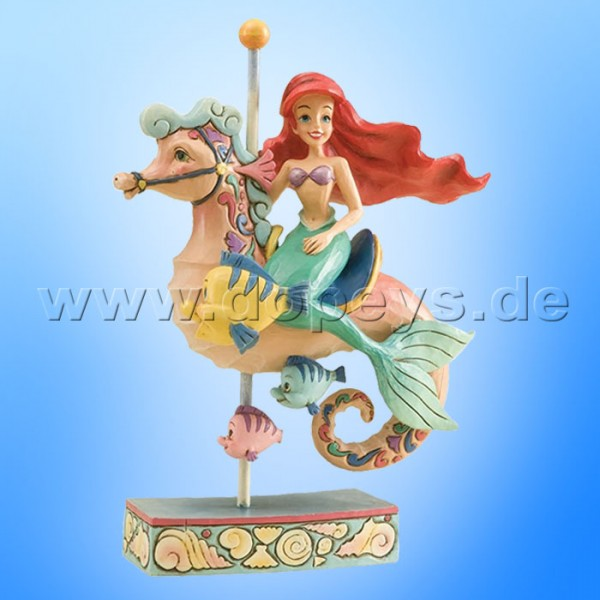 "Disney Traditions / Jim Shore Figur von Enesco. ""Princess Of The Sea (Arielle reitet auf Karussell-Seepferd)"" 4011742."