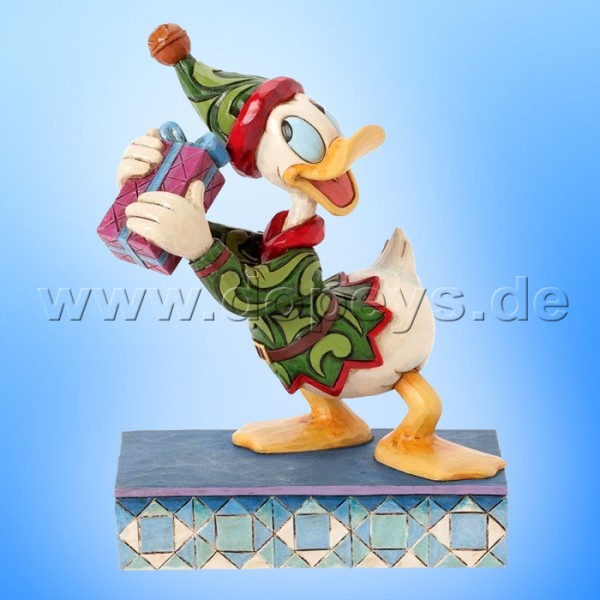 "Disney Traditions / Jim Shore Figur von Enesco. ""Santas Curious Helper (Donald Duck Elf)"" 4039035."