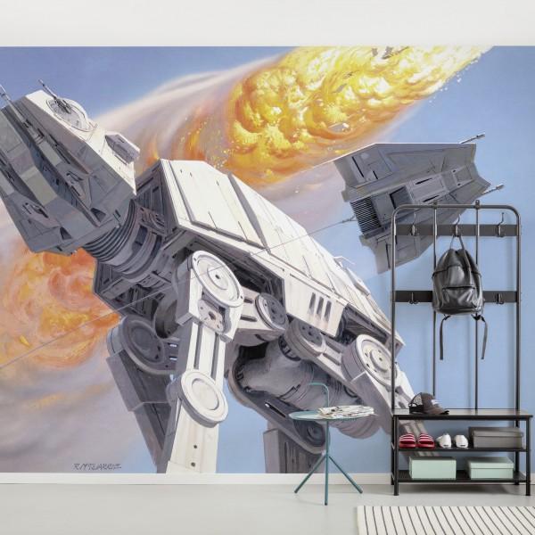 """Star Wars Vlies Fototapete """"Star Wars Classic RMQ Hoth Battle AT-AT"""""""