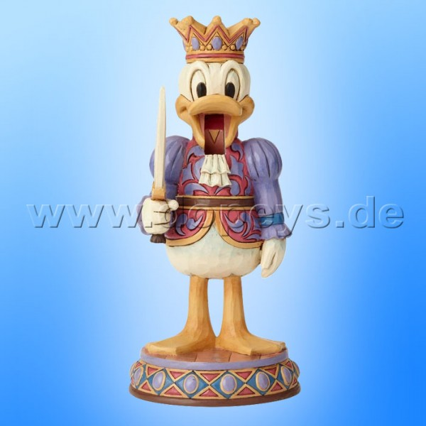 "Disney Traditions / Jim Shore Figur von Enesco ""Reigning Royal (Donald Duck Nussknacker)"" 6000948"