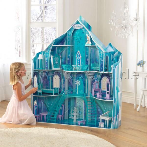 """Puppenhaus Disney Frozen Eispalast der Eiskönigin """"Snowflake Mansion"""" von KidKraft 65880"""