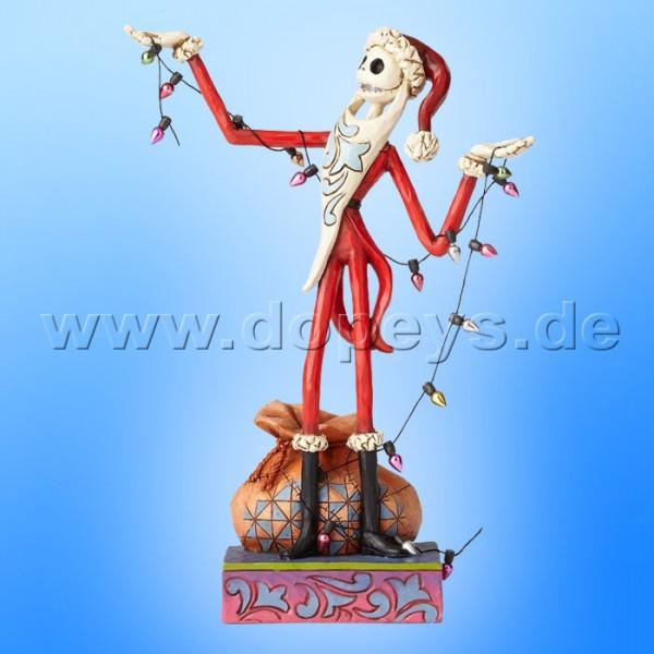 "Disney Traditions / Jim Shore Figur von Enesco ""Wrapped Up In Christmas Spirit (Santa Jack mit Lichterkette)"" 4057954."