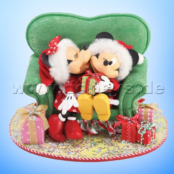 "Disney Possible Dreams von Enesco ""Mickey & Minnie auf Weihnachts-Sessel"" Minnie's Perfect Gift 6003419"