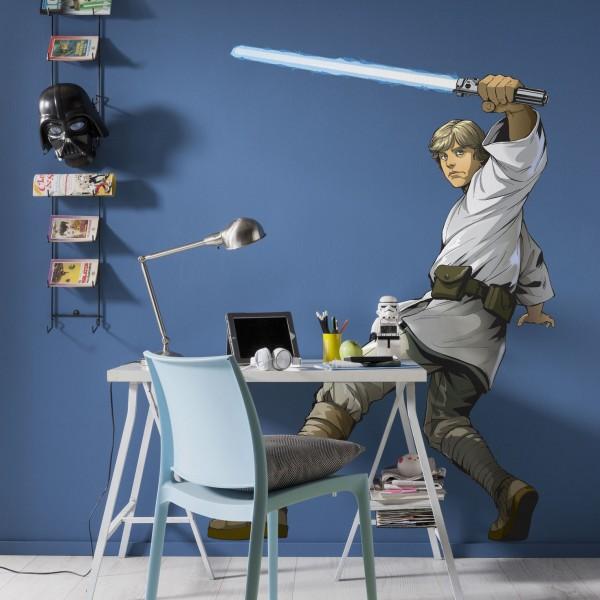 """Star Wars Vlies Fototapete selbstklebend """"Star Wars XXL Luke Skywalker"""" 127cm x 200cm"""