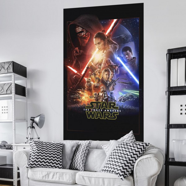 "Star Wars Vlies Fototapete ""Star Wars EP7 Official Movie Poster"" 1,20m x 2,00m"