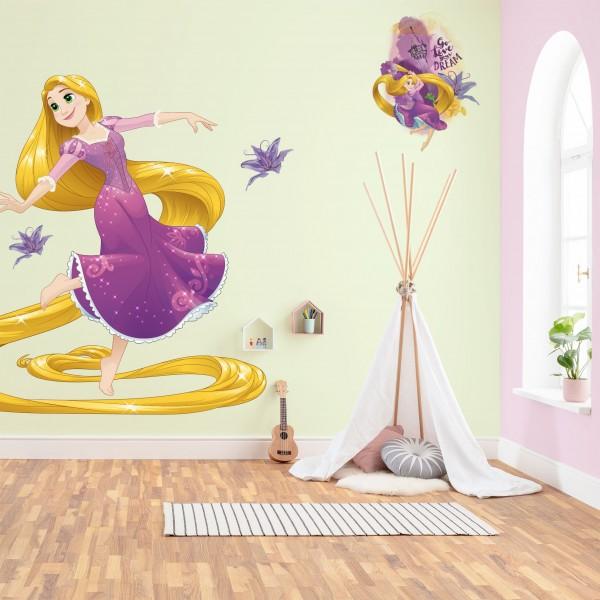 """Disney Vlies Fototapete selbstklebend Disney Prinzessin """"Rapunzel XXL"""" 127cm x 200cm"""