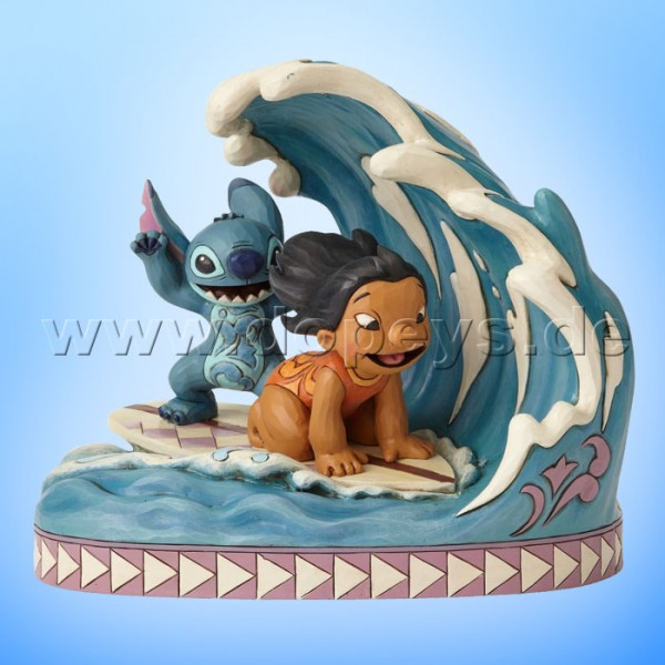 "Disney Traditions / Jim Shore Figur von Enesco ""Catch The Wave (Lilo & Stitch 15 Jahre Jubiläumsfigur)"" 4055407"