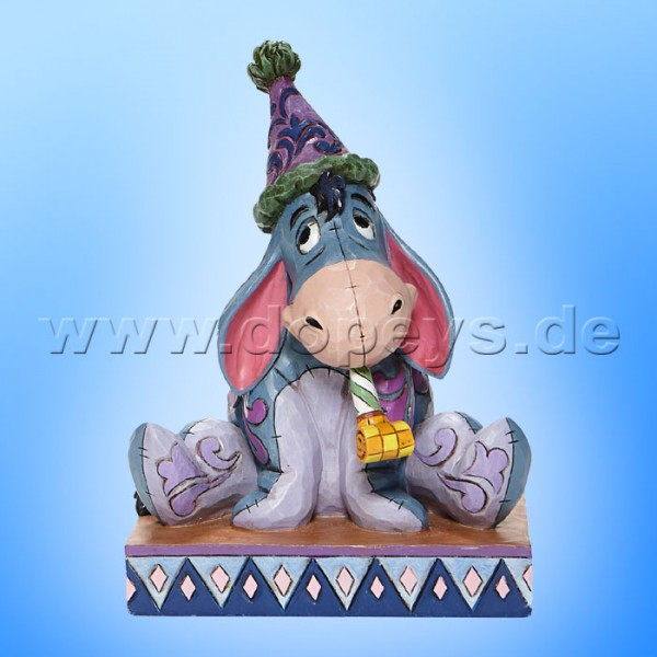 Disney Traditions - Birthday Blues (I-Aah mit Partyhut und Tröte) von Jim Shore 6008074