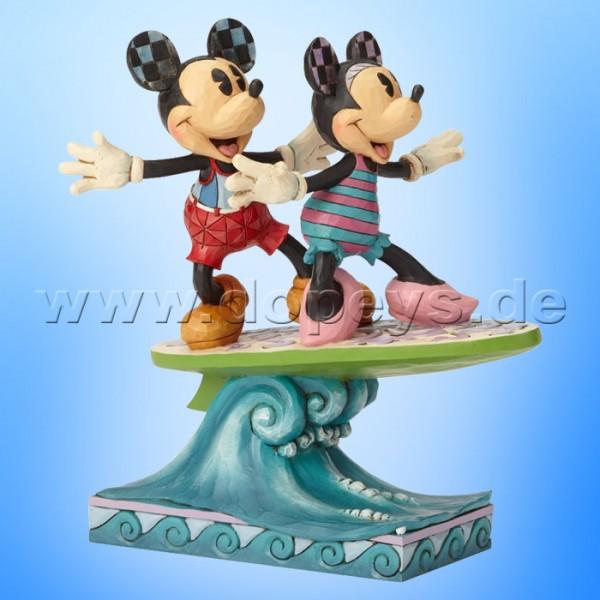 Disney Traditions - Surf's Up (Mickey & Minnie auf einem Surfbrett) von Jim Shore 6001275
